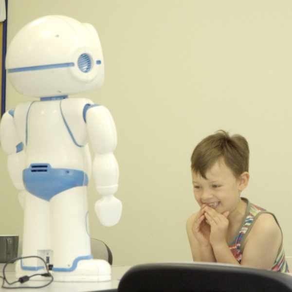 robot for teaching communication and social skills to children with autism