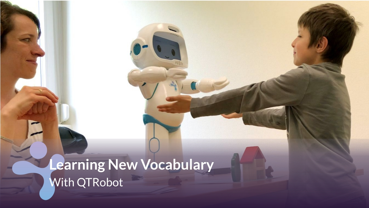 Robot healping children with autism learn communication and speech