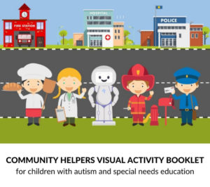 Community helpers visual activity booklet