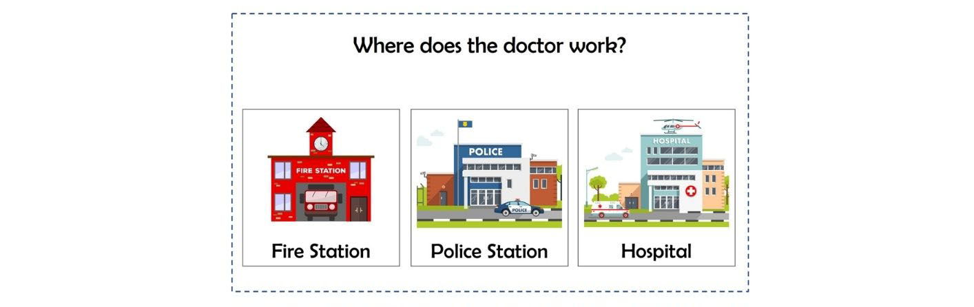 Community helpers blog activity - where does the doctor work
