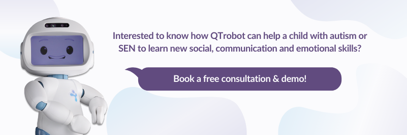 book a free consultation and live demo with qtrobot specialist team